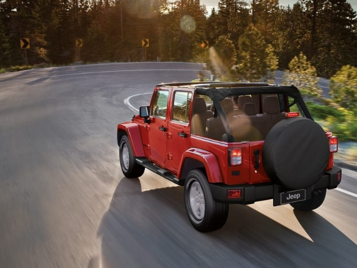 Jeep Wrangler Unlimited In Red Color