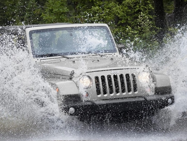 Jeep Wrangler Unlimited Off-Roading In Water