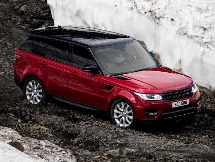 Range Rover Sport In Red Color