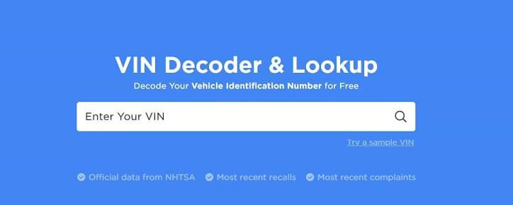 Free VIN Decoder and Lookup