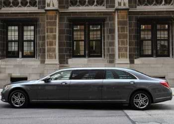 Limousine in grey color