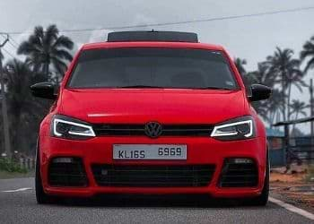 VW Polo number plate