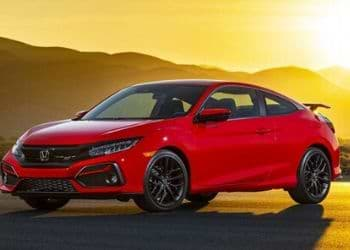 Honda Civic in red color