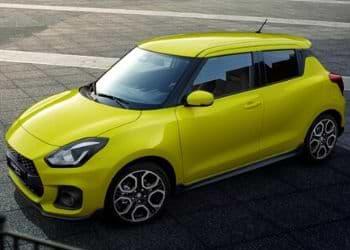 Suzuki Swift in yellow color