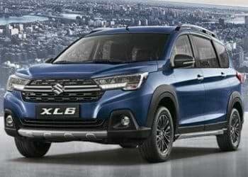 Maruti Suzuki XL6 MUV in blue color