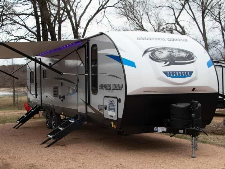 Forest River Alpha Wolf Travel Trailer in White color