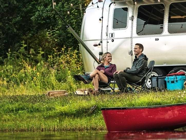 Couple Camping with Airstream