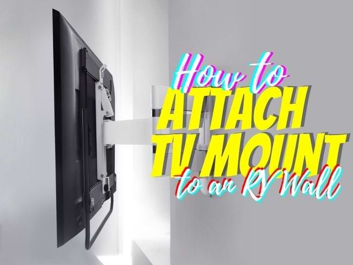 How to mount tv in RV